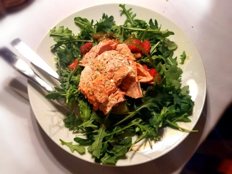 Salmon bruschetta